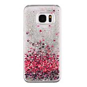 Funda Para Samsung Galaxy Samsung Galaxy S7 Edge Líquido Transparente Diseños Funda Trasera Corazón Dura ordenador personal para S8 Plus