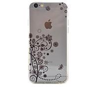 Funda Para Apple iPhone 6 iPhone 7 Plus iPhone 7 Transparente Funda Trasera Flor Dura Acrílico para iPhone 7 Plus iPhone 7 iPhone 6s Plus