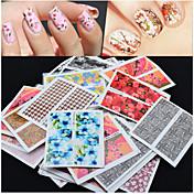 50pcs Engomada del arte del clavo Joyas de Uñas / Calcomanías de Uñas 3D Flor maquillaje cosmético Nail Art