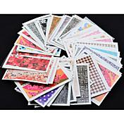 50 아트 스티커 네일 3D 네일 스티커 메이크업 화장품 아트 디자인 네일