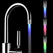 ledede fargeendring kranen temperaturkontroll tre farger tappekran (abs galvanisering)