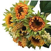 5 Gren Silke Plastikk Solsikker Bordblomst Kunstige blomster