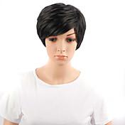 AISI HAIR Mujer Pelucas sintéticas Ondulado Negro Peluca natural Pelucas para Disfraz