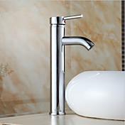 Kjøkken Kran - Moderne / Art Deco / Retro Nikkel Polert standard Tut Centersat / Enkelt Håndtak Et Hull