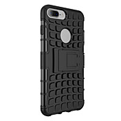 Para Funda iPhone 7 / Funda iPhone 7 Plus Antigolpes / con Soporte Funda Cubierta Trasera Funda Armadura Dura Policarbonato para Apple
