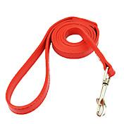 Hund Hundebånd Fritid Ensfarget Stribe PU Leather Hvit Svart Rød Blå Rosa