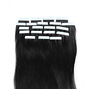 16-18inch cinta rubio blanco brasileño pegamento sin fisuras del cabello humano natural en extensiones de belleza 20pcs trama de la piel