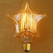 edison luz amarilla decoración fuente de luz de lámpara de tungsteno retro (e27 40w)