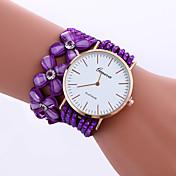 Women's Fashion Watch Imitation Diamond Korean Valve Long Chain Flower Drill Rhinestone Band Watch Ladies Geneva Quartz Wrist Watches Strap Watch