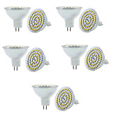 10pcs 3W 280lm GU5.3(MR16) Focos LED MR16 60 Cuentas LED SMD 3528 Regulable Decorativa Blanco Cálido Blanco Fresco 12V
