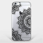 Funda Para Apple Funda iPhone 5 iPhone 6 iPhone 7 Diseños Funda Trasera Mandala Suave TPU para iPhone 7 Plus iPhone 7 iPhone 6s Plus