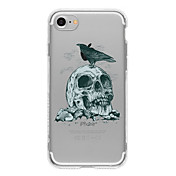 Funda Para Apple iPhone 6 iPhone 7 Plus iPhone 7 Diseños Funda Trasera Cráneos Suave TPU para iPhone 7 Plus iPhone 7 iPhone 6s Plus