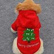강아지 후드 강아지 의류 귀여운 휴일 패션 크리스마스 솔리드 코스츔 애완 동물