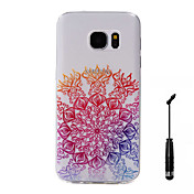 케이스 제품 Samsung Galaxy S7 edge S7 패턴 뒷면 커버 꽃장식 소프트 TPU 용 S7 edge S7