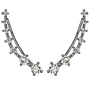 Mujer Puños del oído Estilo Simple Hipoalergénico Moda Brillante Plateado Diamante Sintético Legierung Joyas Joyas Para Boda Fiesta