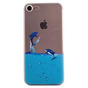 용 아이폰7케이스 아이폰6케이스 아이폰5케이스 패턴 케이스 뒷면 커버 케이스 동물 소프트 TPU 용 Apple아이폰 7 플러스 아이폰 (7) iPhone 6s Plus iPhone 6 Plus iPhone 6s 아이폰 6 iPhone SE/5s