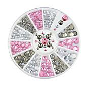 1pcs Neglekunst Dekor Rhinstenperler Sminke Kosmetikk Neglekunst Design