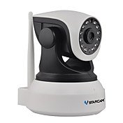 VStarcam 1.0 MP 실내 with IR-cut 128(낮 밤 모션 감지 듀얼 스트림 리모트 액서스 IR-컷 플러그 및 재생) IP Camera