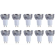 5W 3000/6500 GU10 LED 스팟 조명 4 LED COB 밝기조절가능 따뜻한 화이트 화이트 3000 /6500K AC 220-240 AC 110-130V
