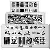 1pcs los elementos rectangulares manicura plancha de impresión