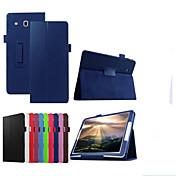 Etui Til Samsung Galaxy med stativ Flipp Heldekkende etui Helfarge Hard PU Leather til Tab E 9.6