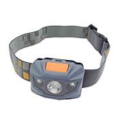 헤드램프 LED 100 루멘 3 모드 LED 배터리 불포함 슬립 방지 그립 컴팩트 사이즈 높은 전력 색상-변화 용 캠핑/등산/동굴탐험 일상용 사이클링 등산 야외 낚시 여행 일 화이트 그레이