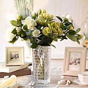 """gardenia Aritificial 25.6 """"de alta calidad para la decoración del hogar 1pc / set"""
