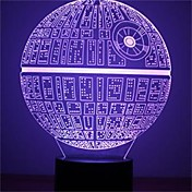1pcs kraft vekker multi-farget death star bordlampe 3d død stjerne bulbing lys for Star Wars-fans