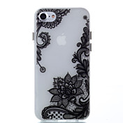 Para Carcasa Funda Fosforescente Cubierta Trasera Funda Impresión de encaje Suave TPU para Apple iPhone 7 Plus iPhone 7 iPhone 6s Plus