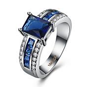Dame Kubisk Zirkonium Ring - Zirkonium, Kobber, Strass Kjærlighed Luksus, Mote 6 / 7 / 8 Blå Til Bryllup / Fest / jubileum / Titanium Stål