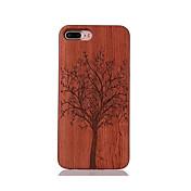 용 충격방지 엠보싱 텍스쳐 패턴 케이스 뒷면 커버 케이스 나무 하드 나무 용 Apple 아이폰 7 플러스 아이폰 (7) iPhone 6s Plus/6 Plus iPhone 6s/6 iPhone SE/5s/5