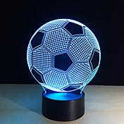 nuevos creativa forma de fútbol 3d ilusión 7colors luz de la noche cambiables para la decoración del dormitorio