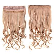 머리 60cm의 24inch 클립 5 클립 # 6백13분의 27 혼합 색상 합성 곱슬 머리 합성 머리가 엮어 5clips