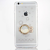Funda Para Apple iPhone 7 Plus iPhone 7 Diamantes Sintéticos Manualidades Funda Trasera Caricatura Dura Acrílico para iPhone 7 Plus