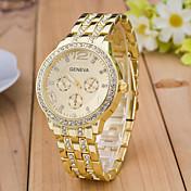 Mujer Reloj Deportivo Reloj de Vestir Reloj de Moda Reloj de Pulsera Simulado Diamante Reloj Cuarzo Diamantes Sintéticos La imitación de