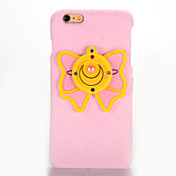 Para Espejo Manualidades Funda Cubierta Trasera Funda Mariposa Dura Textil para AppleiPhone 7 Plus iPhone 7 iPhone 6s Plus iPhone 6 Plus