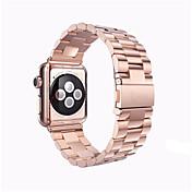 Ver Banda para Apple Watch Series 3 / 2 / 1 Apple Correa de Muñeca Hebilla de la mariposa Acero Inoxidable