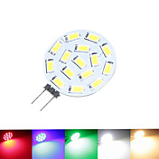 1.5W G4 Focos LED MR11 15 leds SMD 5630 Regulable Blanco Cálido Blanco Natural Azul Verde Rojo 100-150lm 3000-3500 6000-6500K DC 24 09.30
