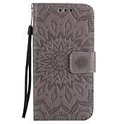 Etui Til Samsung Galaxy A5(2017) A3(2017) Kortholder Lommebok med stativ Flipp Mønster Inngravert Heldekkende etui Mandala Hard PU Leather