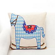 1 PC Poliéster Cobertor de Cojín,Estampado animal Detalle Decorativo