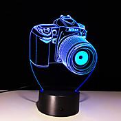 3d táctil de 7 colores LED creativa pequeña luz de la noche