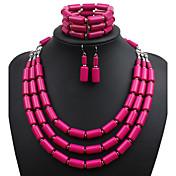 Mujer Conjunto de joyas - Euramerican Incluir Rosa Rojo / Verde / Azul Para Boda / Fiesta / Ocasión especial