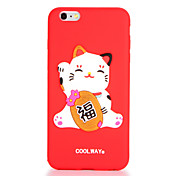Para Diseños Funda Cubierta Trasera Funda Gato Suave Silicona para AppleiPhone 7 Plus iPhone 7 iPhone 6s Plus iPhone 6 Plus iPhone 6s