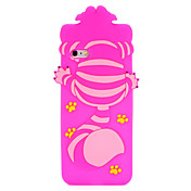 Funda Para Apple iPhone 7 Plus iPhone 7 Diseños Funda Trasera Gato Dibujo 3D Suave Silicona para iPhone 7 Plus iPhone 7 iPhone 6s Plus