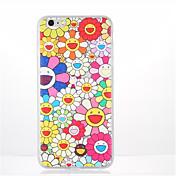 Funda Para Apple iPhone 7 Plus iPhone 7 Diseños Funda Trasera Flor Suave TPU para iPhone 7 Plus iPhone 7 iPhone 6s Plus iPhone 6s iPhone