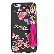 Para Diseños Manualidades Funda Cubierta Trasera Funda Mariposa Suave TPU para AppleiPhone 7 Plus iPhone 7 iPhone 6s Plus iPhone 6 Plus