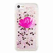 용 플로잉 리퀴드 패턴 케이스 뒷면 커버 케이스 글리터 샤인 꽃장식 소프트 TPU 용 Apple아이폰 7 플러스 아이폰 (7) iPhone 6s Plus iPhone 6 Plus iPhone 6s 아이폰 6 iPhone SE/5s iPhone 5