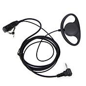 D tipo auricular ptt 1 pin fbi earhook auricular para motorola portátil radio inalámbrico tlkr t3 t4 t60 t80 mr350r walkie talkie