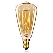 1pc 40W E14 E12 ST48 2300 K Bombilla incandescente Vintage Edison AC 220-240V V