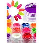 1 bottle Nail Glitter Glitrende / Neon & Bright Glans / Musserende Fest / Fest / aften / Daglig Nail Art Design